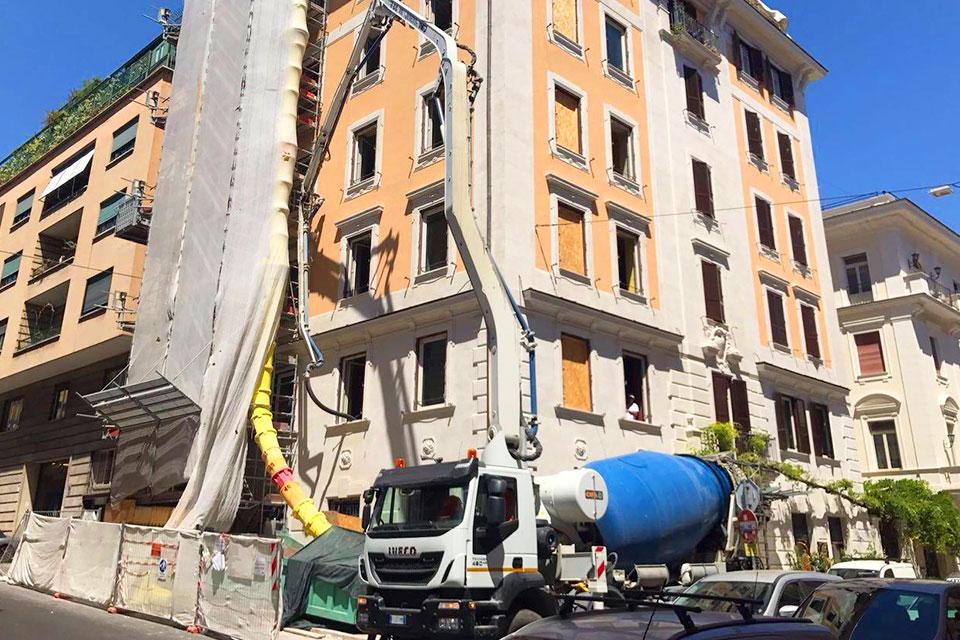 Ristrutturazione completa dell'Hotel Locarno a Roma.