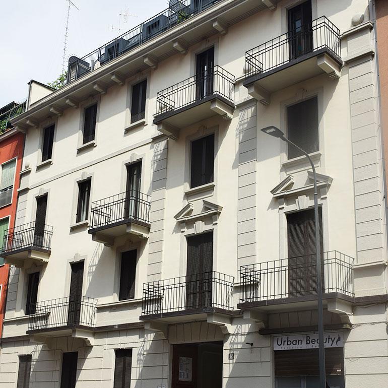 Ristrutturazione e frazionamento di un prestigioso Fabbricato a Milano.
