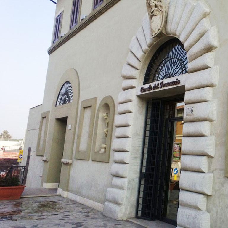 Ristrutturazione ristorante Casale del Fornaccio a Roma.