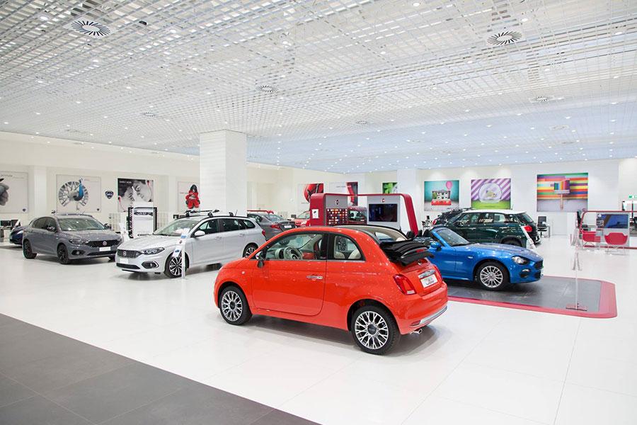Ristrutturazione showroom Motor Village Roma.