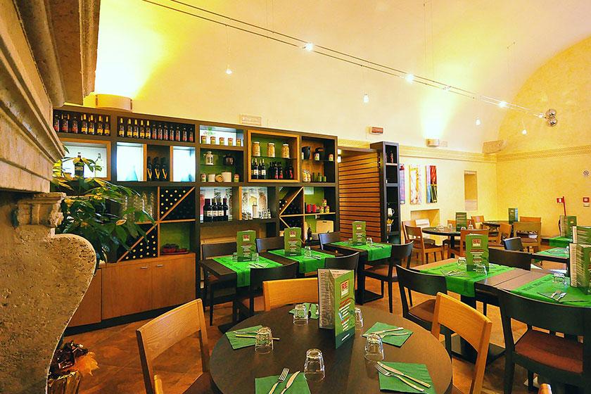 Ristrutturazione completa del ristorante REBasilico a Roma.