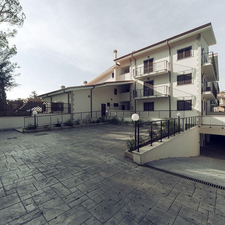 Costruzione palazzina Villa Amaryllis a Roma quartiere Bufalotta.