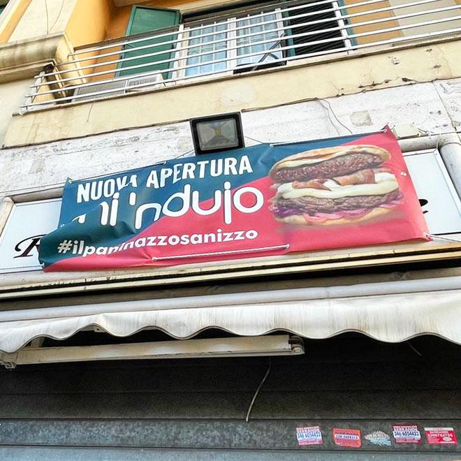 Ristrutturazione Mi'Ndujo franchising fast food a Roma.